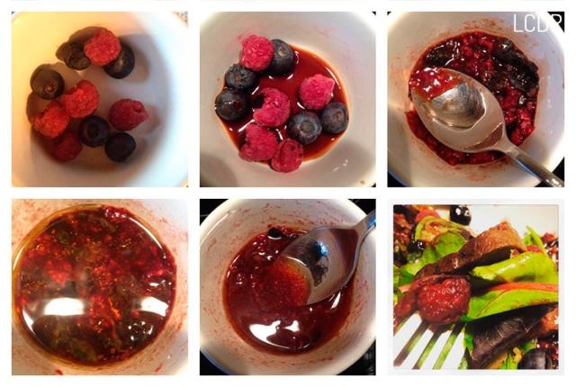 Receta de ensalada de pato con frutos rojos 03