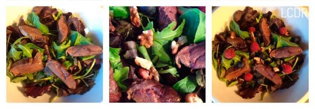 Receta de ensalada de pato con frutos rojos 02