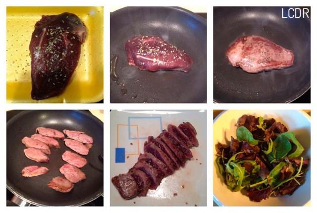 Receta de ensalada de pato con frutos rojos 01